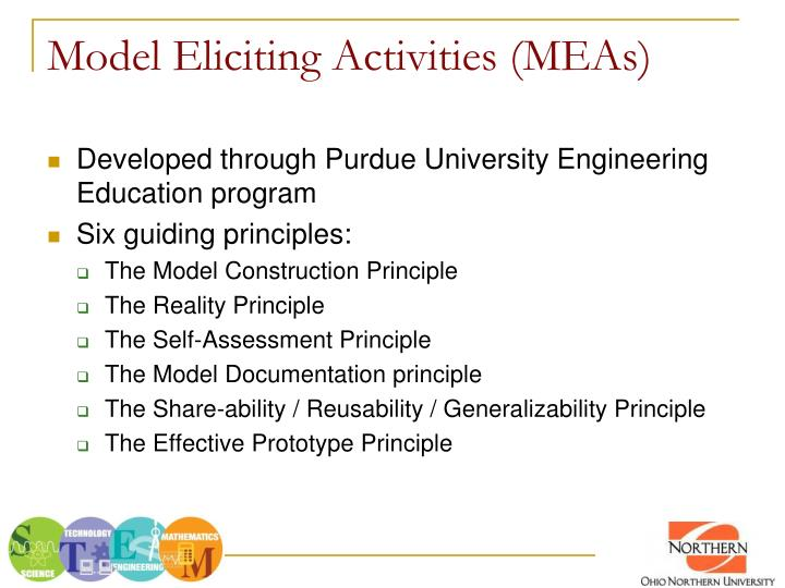 Model eliciting activities meas