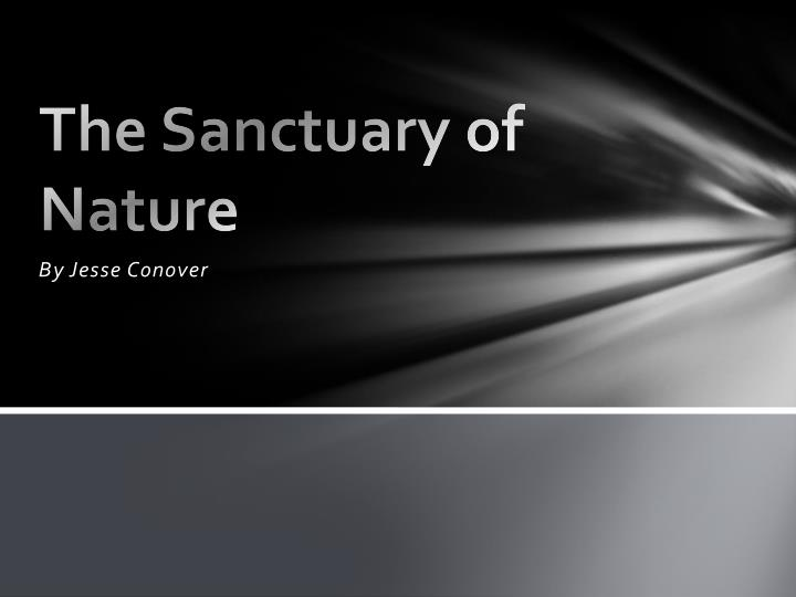 the sanctuary of nature n.
