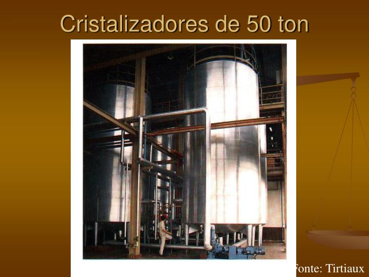 Cristalizadores de 50 ton