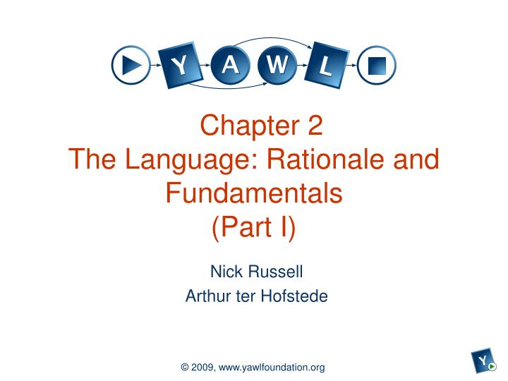 chapter 2 the language rationale and fundamentals part i n.
