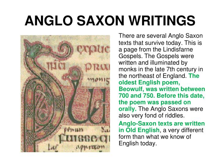ANGLO SAXON WRITINGS