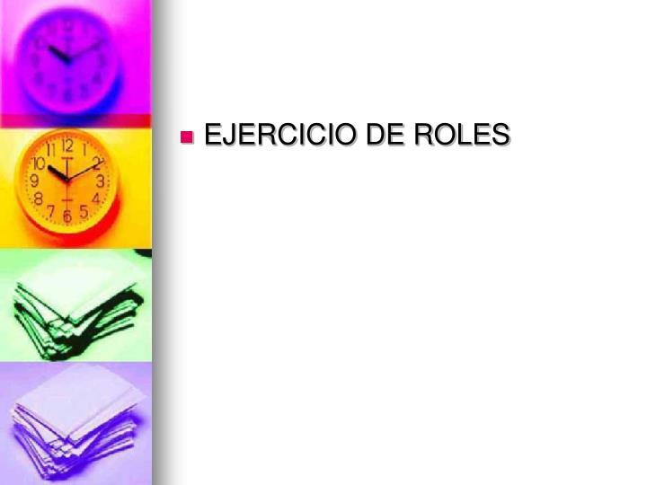 EJERCICIO DE ROLES