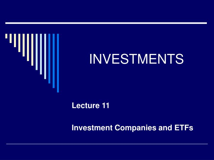 investments n.