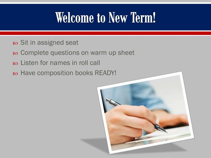 welcome to new term n.