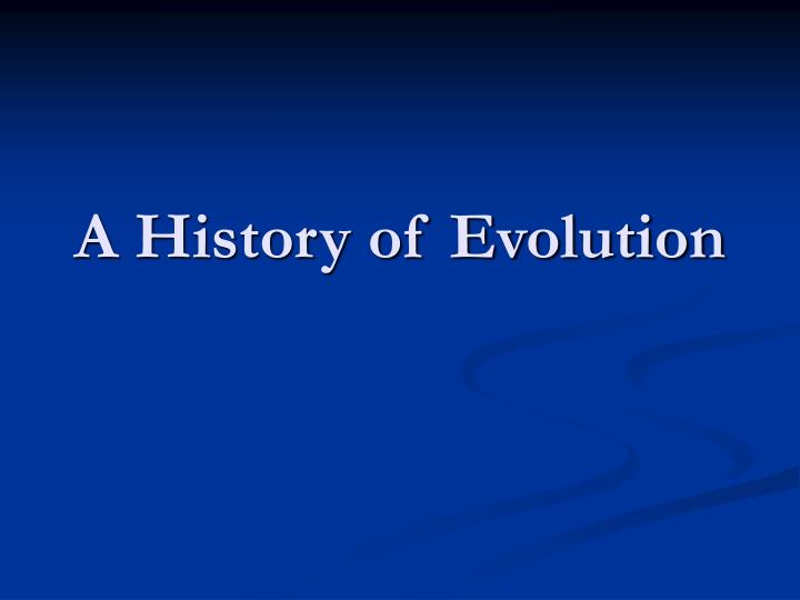 a history of evolution n.