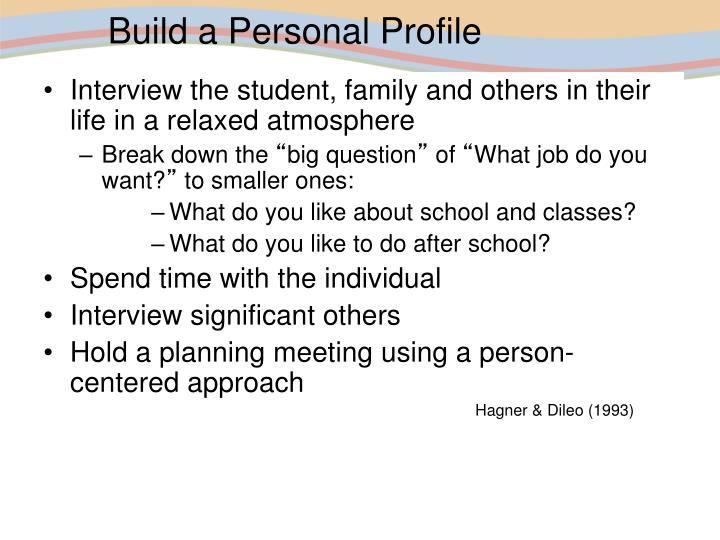 Build a Personal Profile