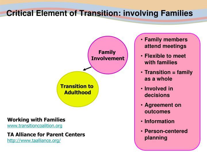 Family members attend meetings