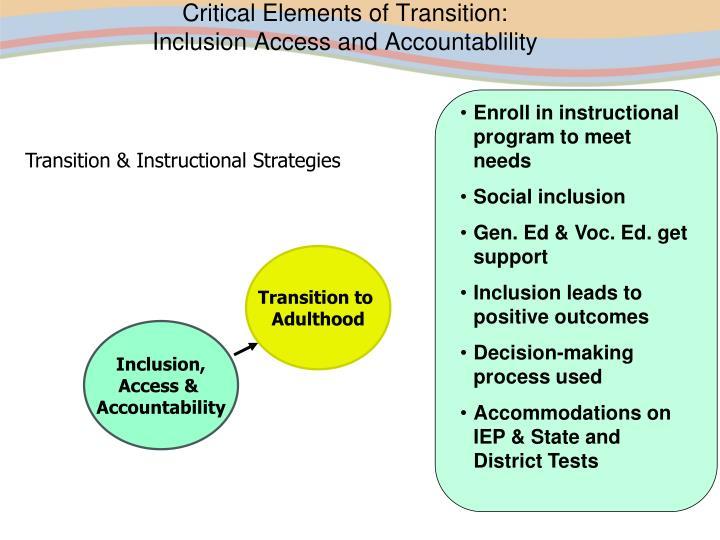 Enroll in instructional program to meet needs