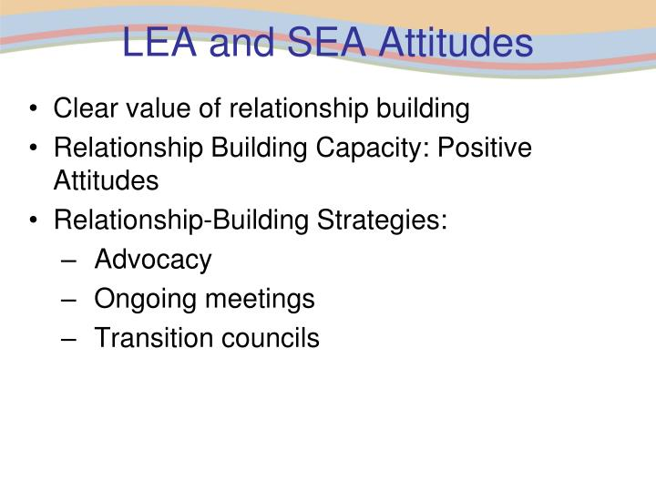 LEA and SEA Attitudes