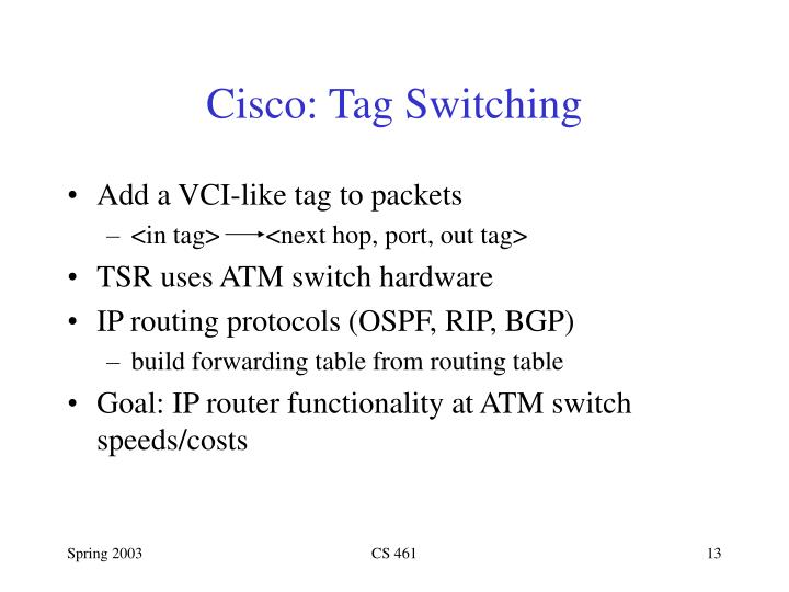 Cisco: Tag Switching