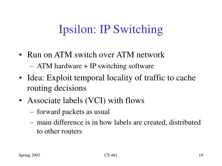 Ipsilon: IP Switching