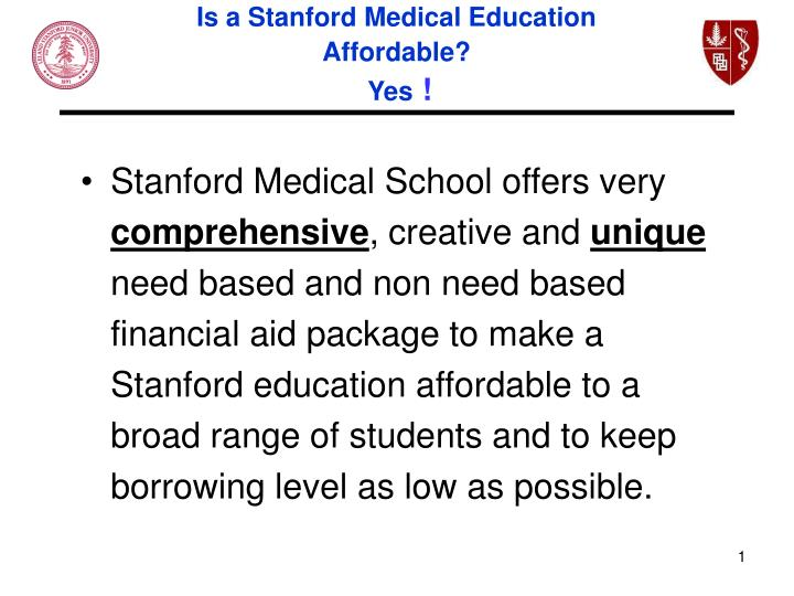 Stanford Medical School Tour