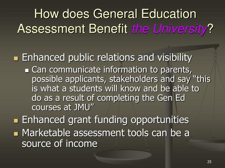 How does General Education Assessment Benefit