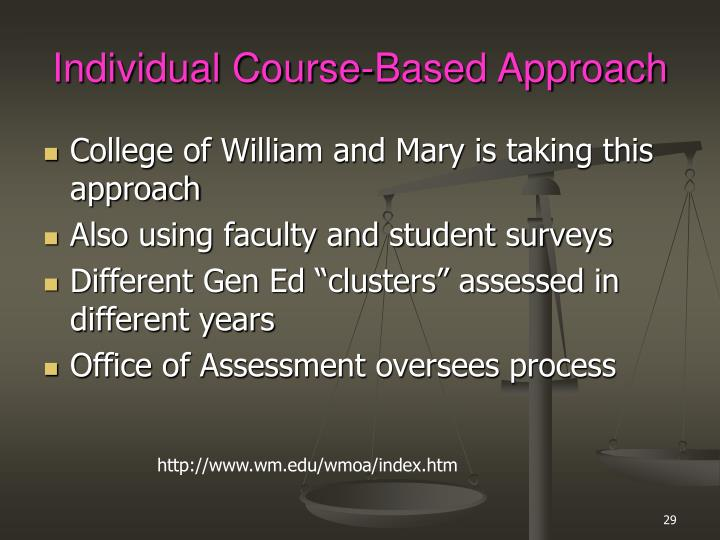Individual Course-Based Approach
