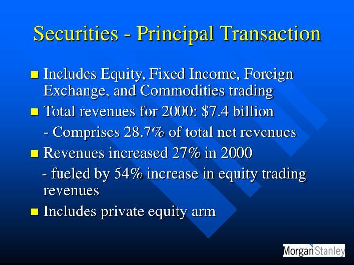 Securities - Principal Transaction