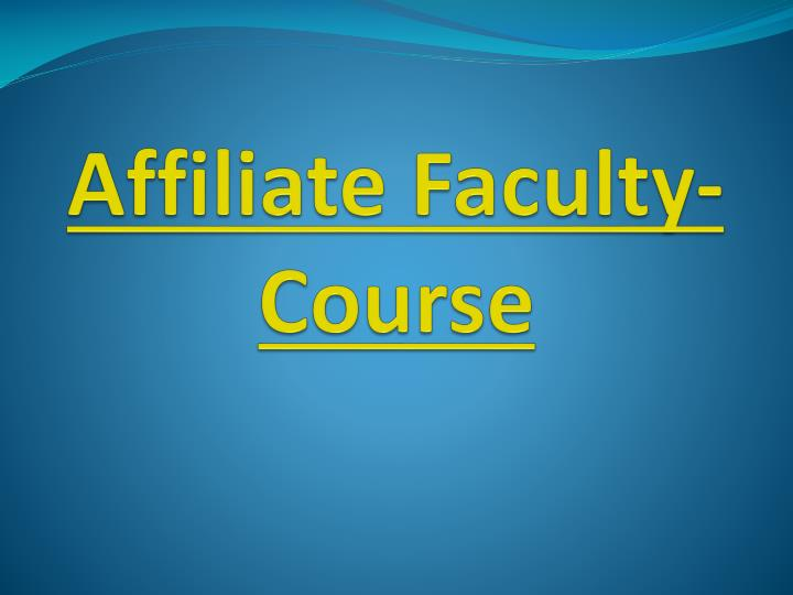 affiliate faculty course n.