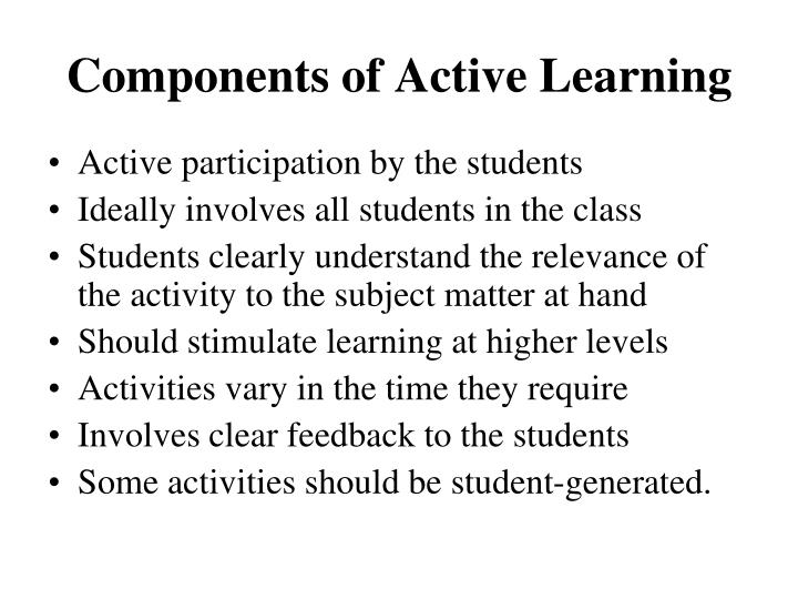 Components of Active Learning