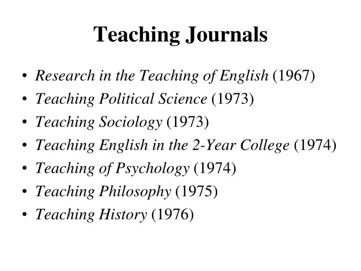 Teaching Journals