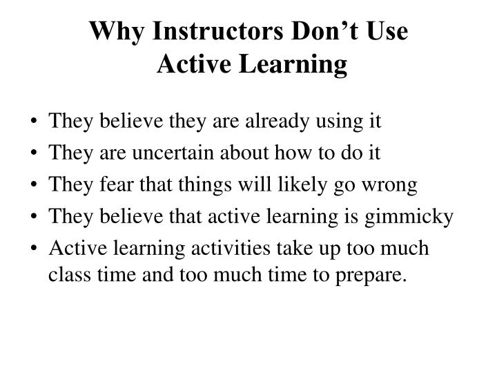 Why Instructors Don't Use