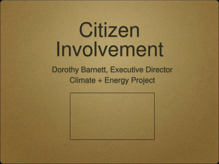 Citizen involvement