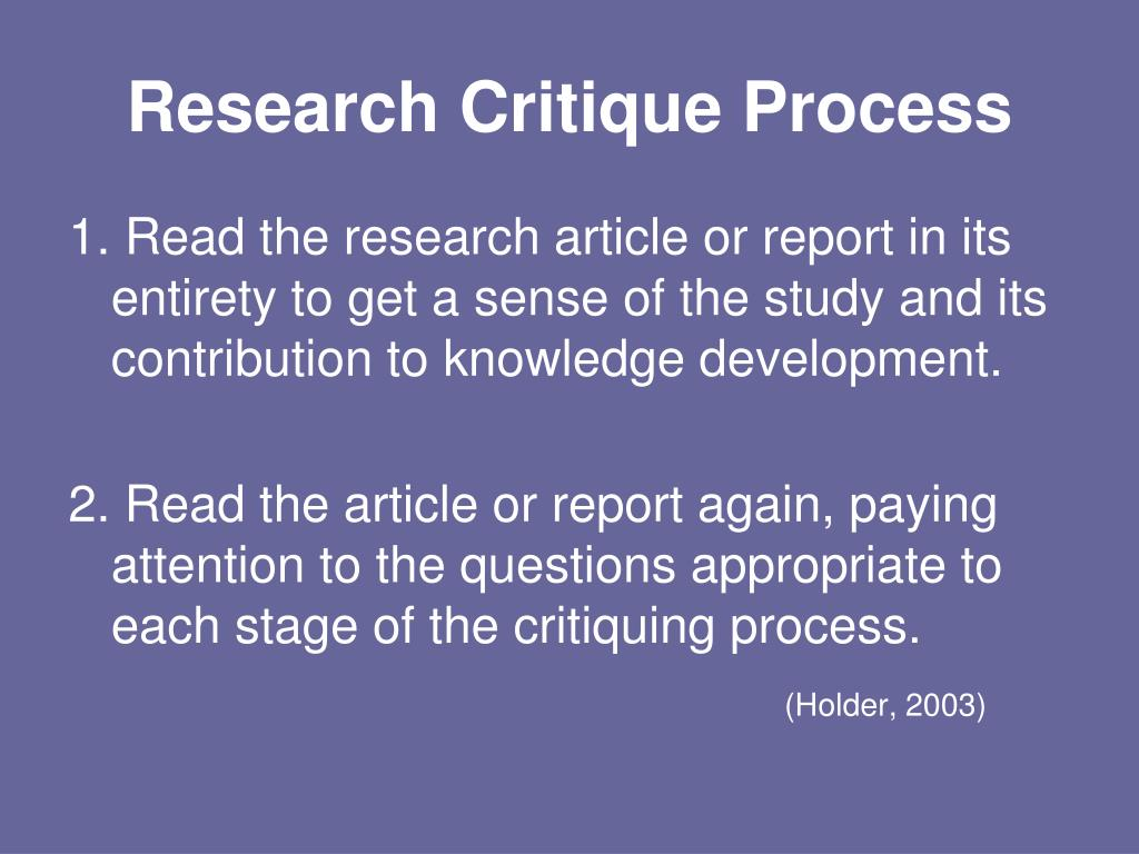 PPT - The Critique Process: PowerPoint Presentation - ID:2728065