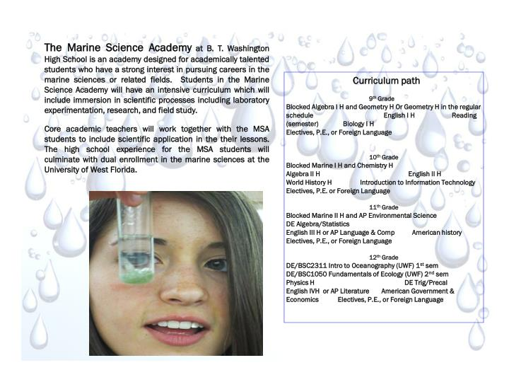 The Marine Science Academy