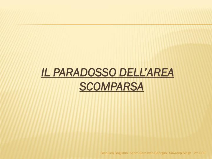 IL PARADOSSO DELL'AREA SCOMPARSA