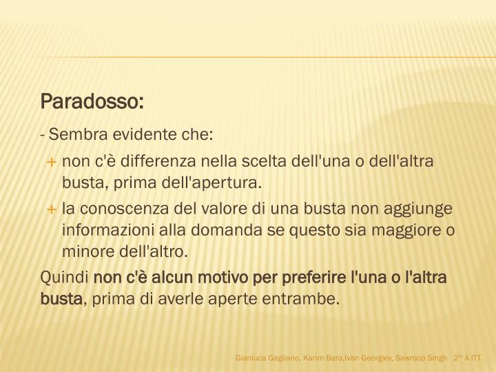 Paradosso: