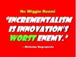no wiggle room incrementalism is innovation s worst enemy nicholas negroponte