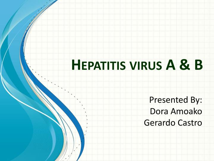 hepatitis virus a b n.