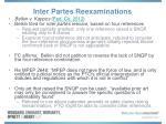 inter partes reexaminations