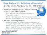 more section 101 is software patentable