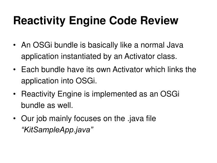 Reactivity Engine Code Review