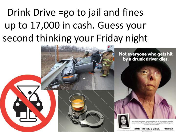drink drive go to jail and fines up to 17 000 in cash guess your second thinking your friday night n.