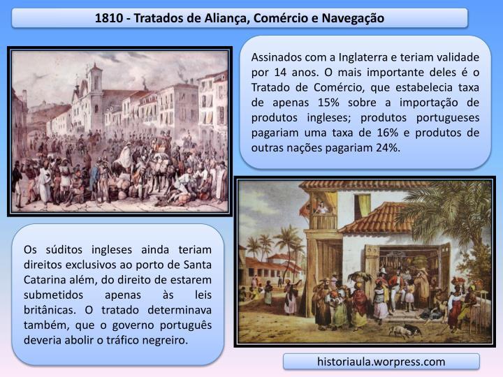 1810 - Tratados de Aliança, Comércio e Navegação
