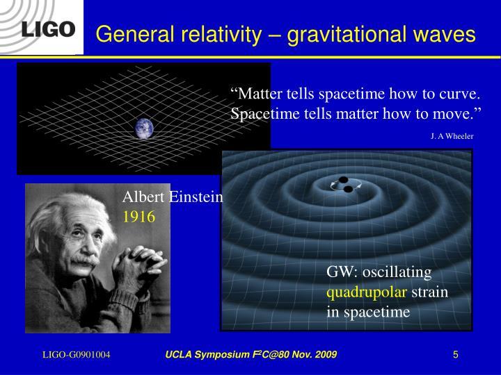 General relativity – gravitational waves