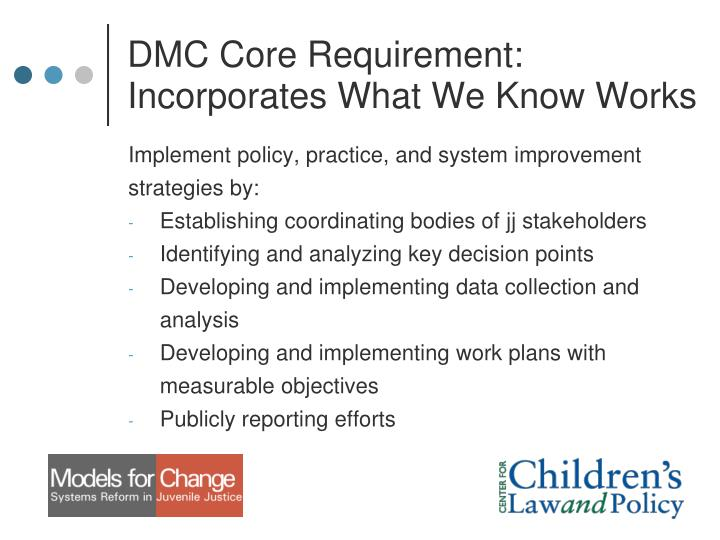DMC Core Requirement: