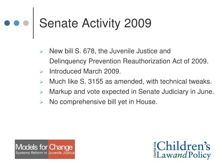 Senate Activity 2009