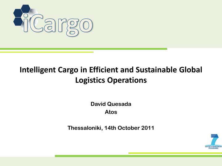 intelligent cargo in efficient and sustainable global logistics operations n.