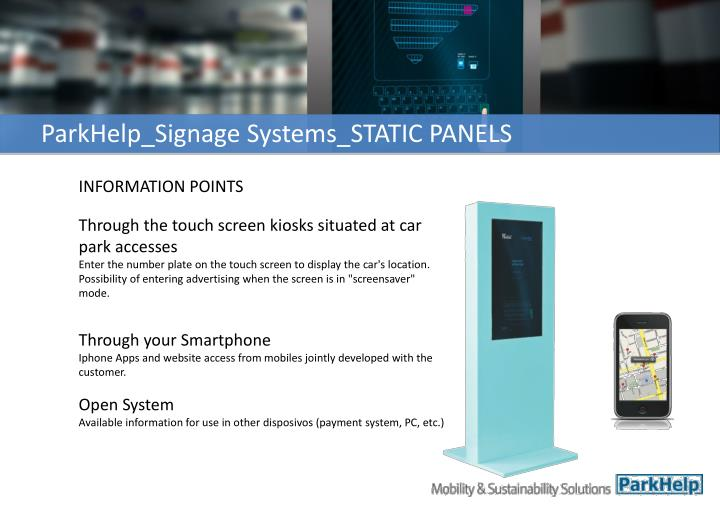 ParkHelp_Signage Systems_STATIC PANELS