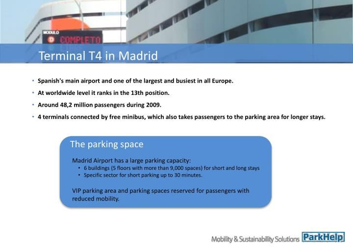 Terminal T4 in Madrid