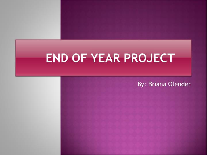 end of year project n.