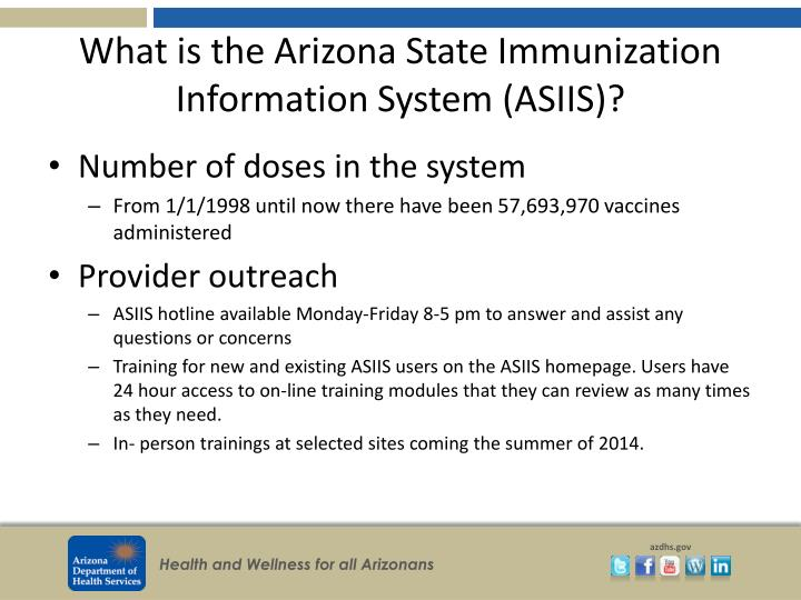What is the Arizona State Immunization Information System (ASIIS)?