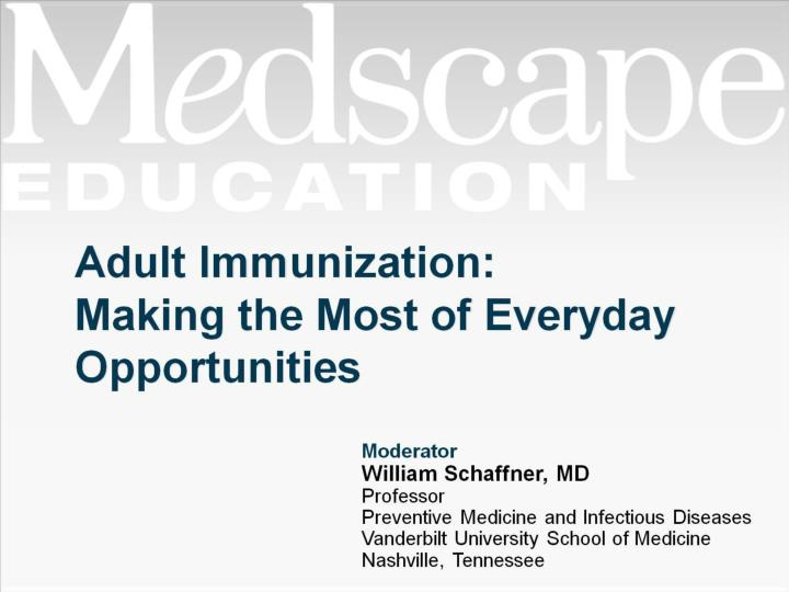 adult immunization making the most of everyday opportunities n.
