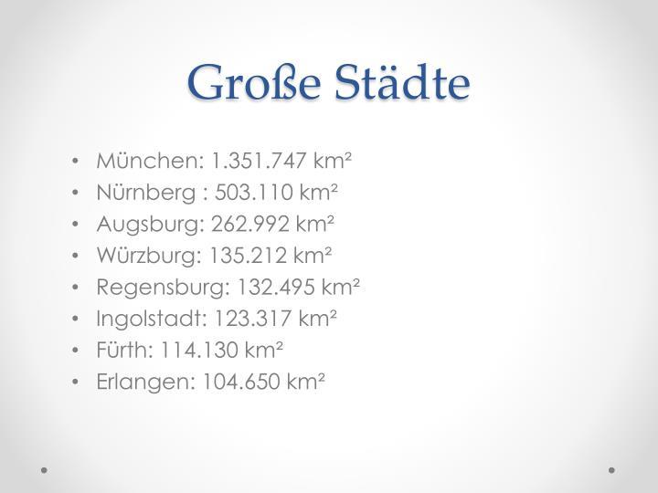 Große Städte