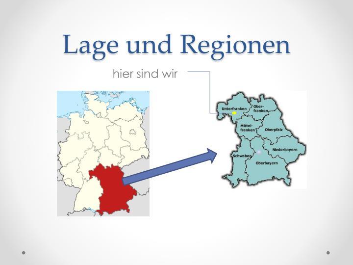 Lage und Regionen