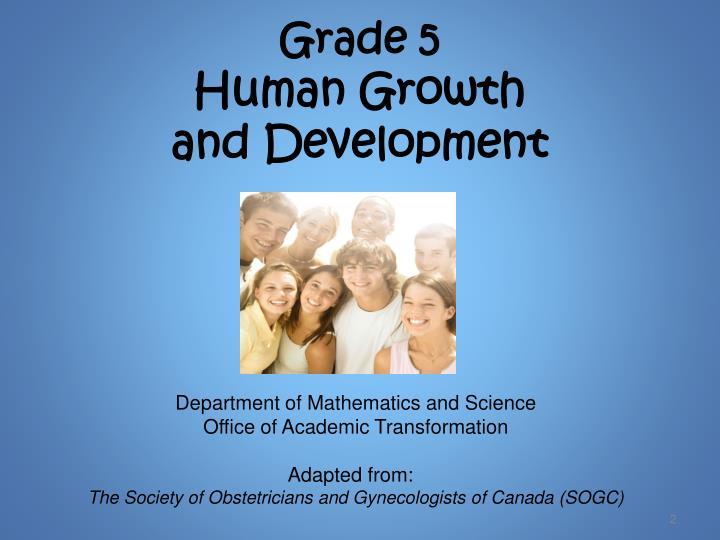 Grade 5 human growth and development