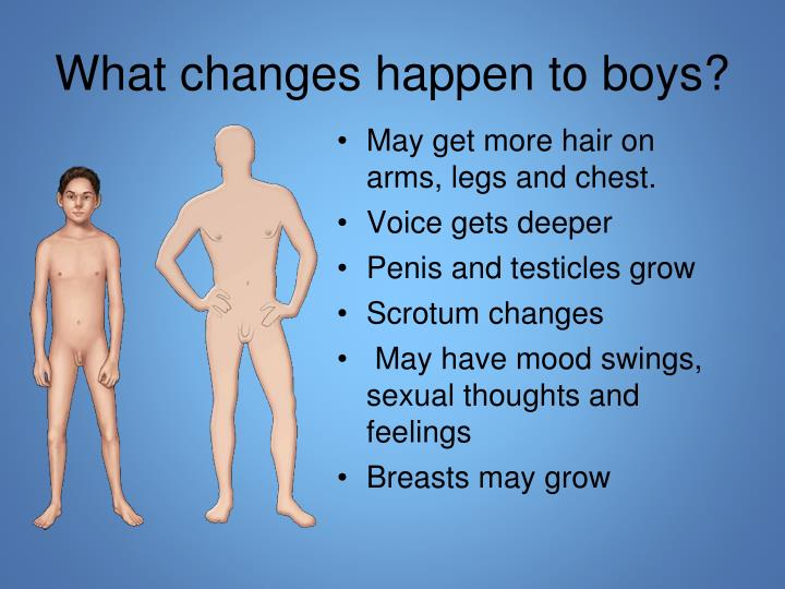 What changes happen to boys?