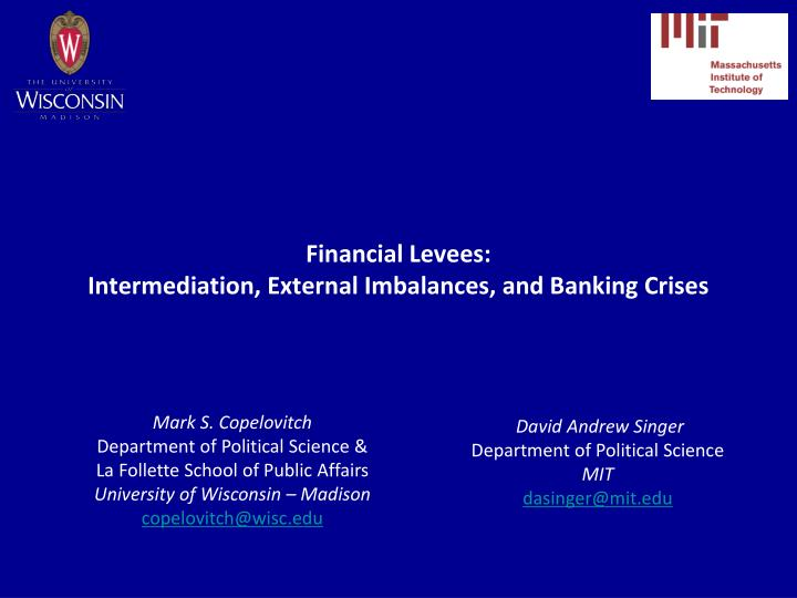 financial levees intermediation external imbalances and banking crises n.