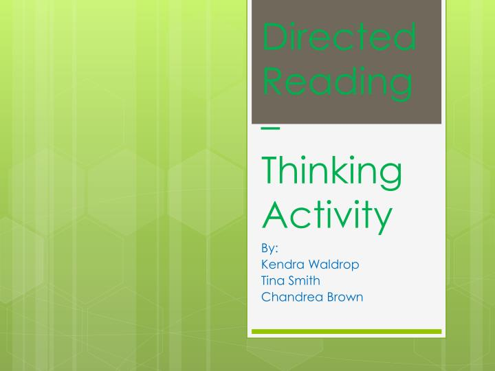 directed reading thinking activity n.
